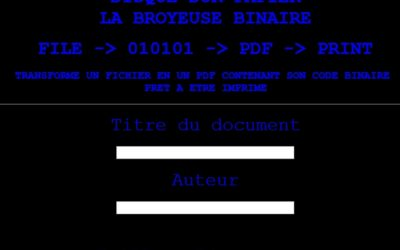 Broyeuse binaire